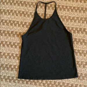 Fabletics grey t-back workout tank